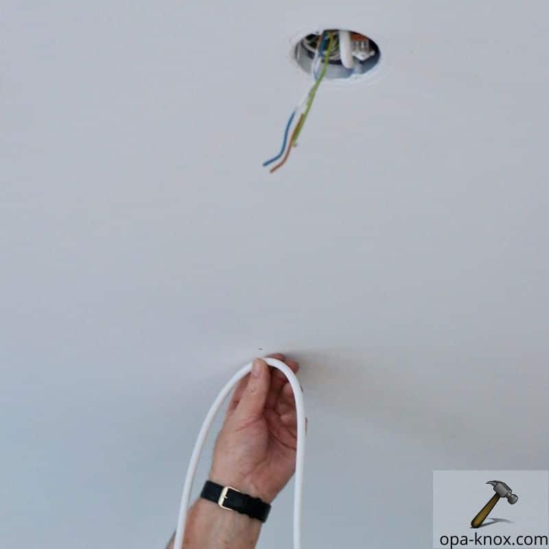 Ohne affenschaukel versetzen deckenlampe Deckenlampe Kabel