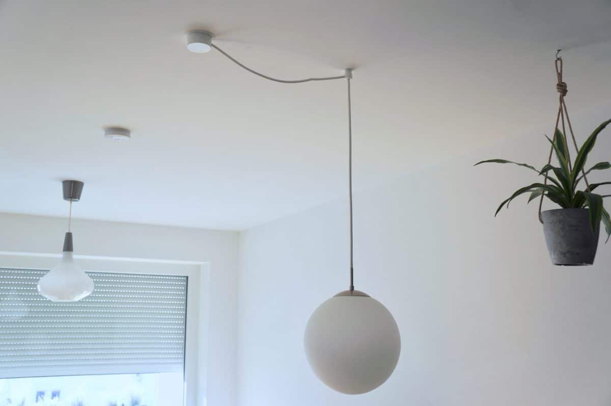 Fertig versetzte Lampe