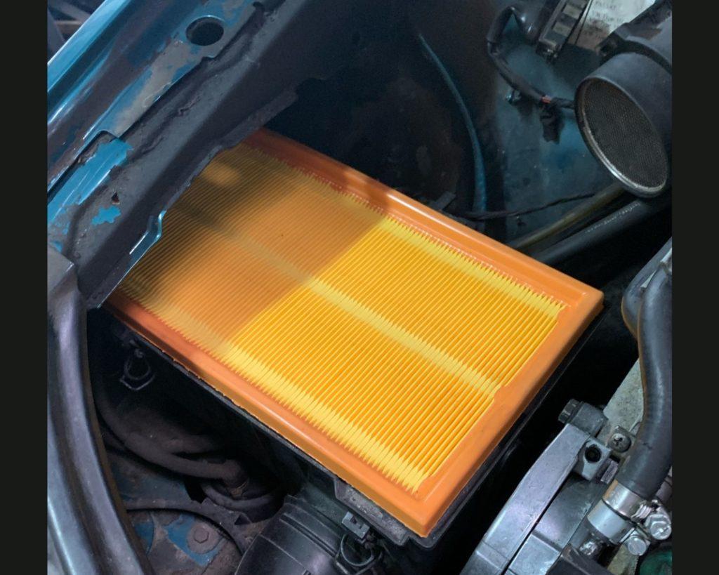 neuer Luftfilter eingesetzt
